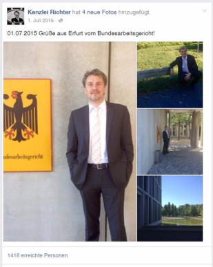 Rechtsanwalt beim Bundesarbeitsgericht in Erfurt
