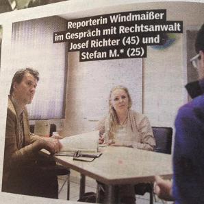 Bild am Sonntag im Interview mit Rechtsanwalt Richter